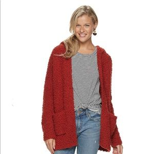 Sonoma | Red Maple Long Sleeve Hooded Cardigan